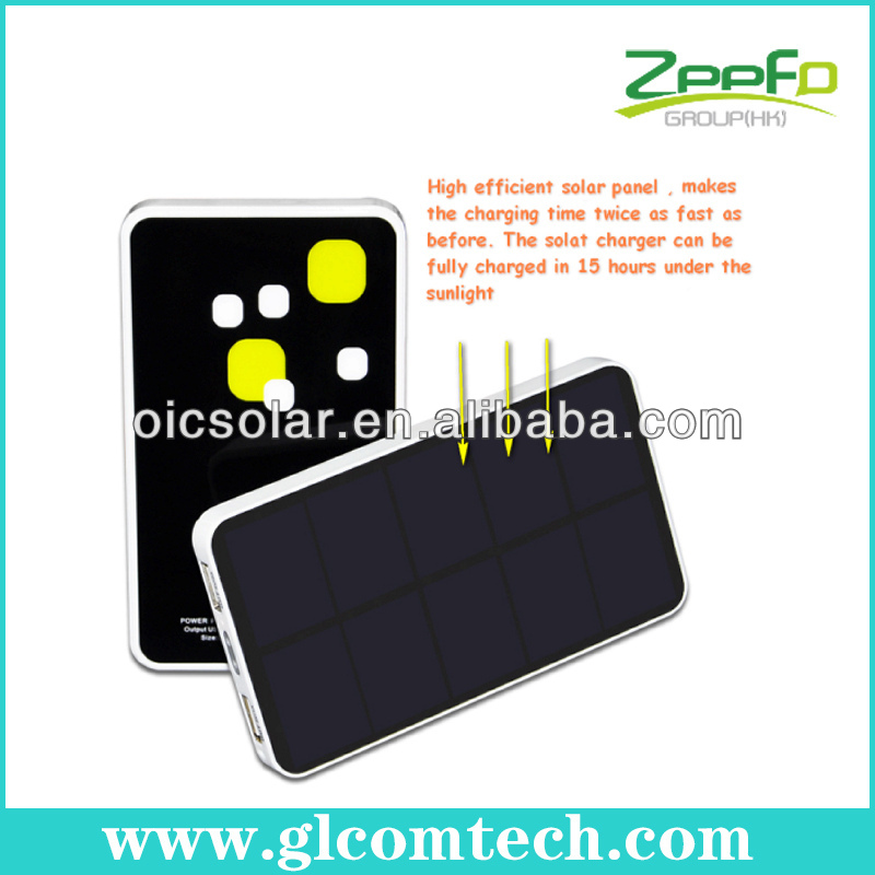 China manufacturer RoHS,CE,FCC versatile solar charger for cellphone and iPad