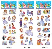 free shipping wholesale 6000pcs hotsale 3D puffy stickers 7*17 cartoon stickers princess sofia toy for preschool