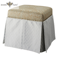 Small square storage ottoman / leg rest stool
