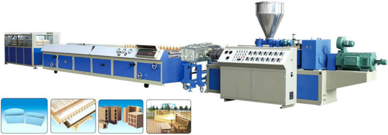 2013 high efficiency good performance pvc fence profile extrusion line