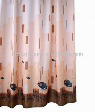 Polyester Printed Bath Shower Windows Curtain