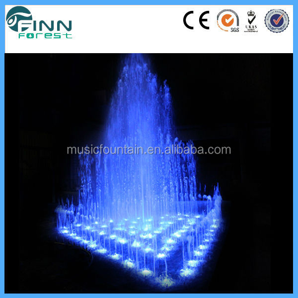 with fountain frames,music controller and led light water dancing fish tank fountain