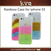 Shining Star Rainbow Ultra Thin Soft TPU Back Cover Case for iphone 5s