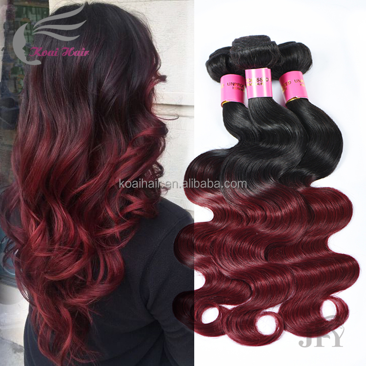 New Product 1B 99J Red Brazilian Hair Sew In Human Hair Weave Ombre Hair Braids