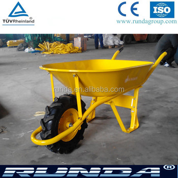 Construction heavy load wheelbarrow