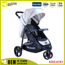 Comfortable three wheels pram with shadow Softtextile Stroller Baby