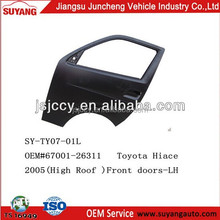 Toyota Hiace Minibus New Model Front Door Auto Body Kits