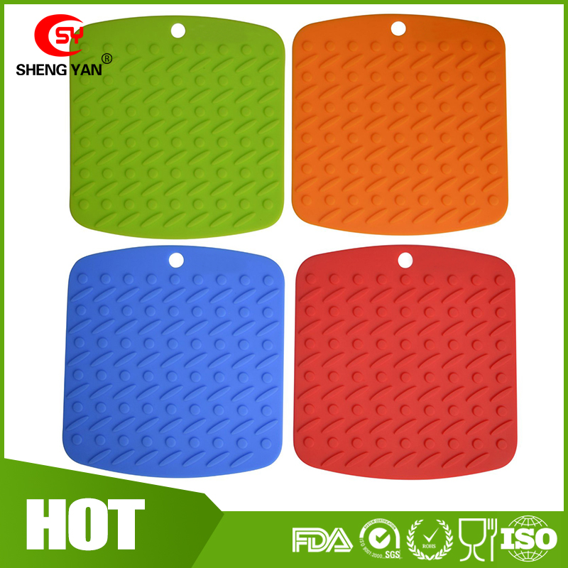 Silicone Pot Holder, Trivet Mat,jar Opener and Spoon Rest-Non Slip, Flexible, Durable, Dishwasher Safe, Heat Resistant Hot Pads