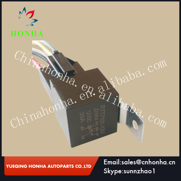 JD1914-30A+RSW-02 5 pin JD1914 DC12V 30A 5 Pin Auto Relay With Metal Bracket & Socket Wire connector