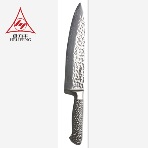 <strong>China</strong> factory 8 inch with <strong>G10</strong> forged fibre glass handle Damascus steel chef knife