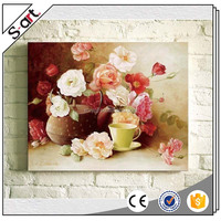 Flower interior wall painting pictures on canvas for restaurant Home Hotel Coffee Bars Office decoration