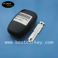 Best price 2 button car key with 434Mhz ID46 chip for remote key renault