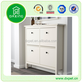 Livingroom furniture wooden morden solid wood shoe cabinet