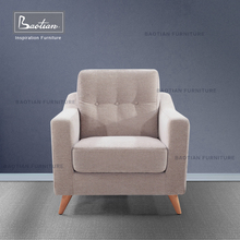 Baotian Furniture 100% Cotton Fabric Simple Design chair for Livingroom Furniture