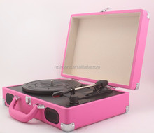 Portable Suitcase USB Vinyl Record Player With Bluetooth