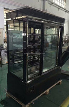 Upright cake display fridge, Commercial glass refrigerated cabinet for pastry