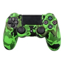 Camouflage Green Controller Silicone Skin Cover Case For PS4 <strong>Playstation</strong> 4 Slim Pro