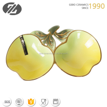 decorative apple shape ceramic candy bowl
