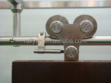 Stainless steel Hot Sale Double Rollers Heavy Duty Hanging Sliding Barn Door Hardware For Solid Wood .
