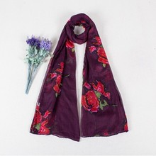 graduated color scarf star lady scarf silk scarf