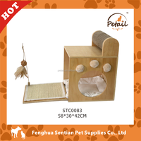 Popular Wooden single box Cat Tree Cat House