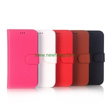 New Arrive Litchi Pattern Credit Card Wallet Stand Flip Leather Case For iPhone X