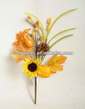 New Style Artificial Flower 25cm Artificial Pick With Maple Leaf pumpkin party decoration