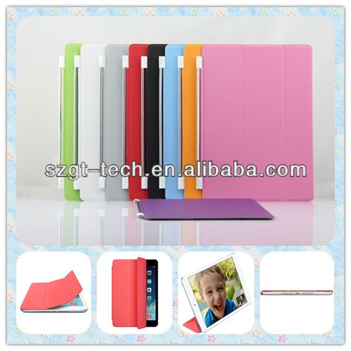 Para iPad Air 2 Smart Cover PC estojo de couro duro, para ipad caso tablet