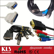 Good quality hd15 vga to rca male cable UL CE ROHS 019 KLS brand