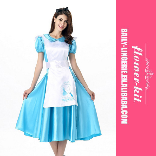 Beauty blue maid dress the princess dress cosplay dress For costumes