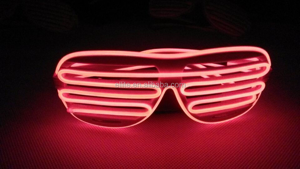 How cool flashing blue light glasses
