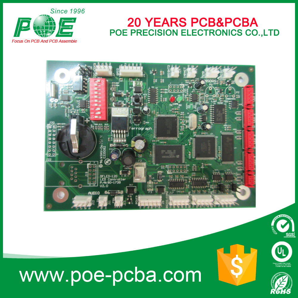 High quality 2 layer fr4 assembled pcb with custom made service