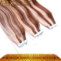 Remy Hair Light Brown, Peruvian Human Hair, Tape In Hair Extensions