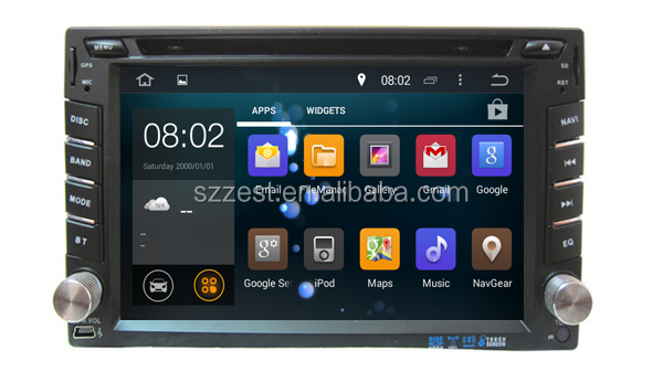 Shenzhen ZESTECH Android 5.1.1 double din car stereo for universal 6.2 inch screen car dvd player with USB SD SWC BT 3G wifi A9