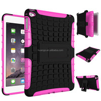 Ultra High Quality armor rugged kickstand heavy duty TPU+PC 2 in 1 table case For iPad mini 4 hard table case lowest price