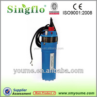 Singflo 24V DC 4'' 360LPH deep well submersible pump 3 inch