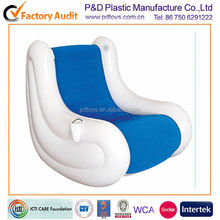PVC inflatable rocker recliner sofa with music
