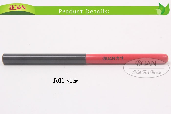 2015 BQAN Red Wood Handle Flat Gel Nail Brush