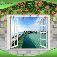 High Quality Natural Sea scape 3d Wall Mural Beautiful Beach Scenery Wallpaper