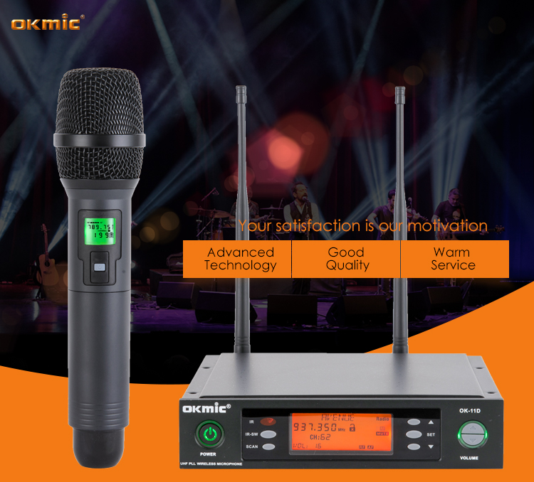 Good hand feeling wireless mini handheld microphone in low price