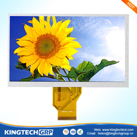 7 inch 800x480 color display transparent 320 rgb * 2white lcd touch screen