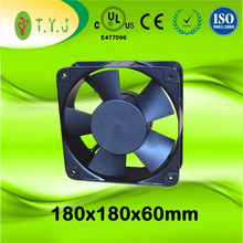 Car and Computer Cooler Axial Fan 180mm x 180mm x 60mm AC Fan Rated Voltage 110v