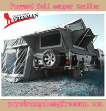 Rongcheng heavy duty forward fold camping trailer for sale