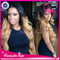 Two tone color Long hair 30 inch 1# Jetblack human hair Brazilian wigs kinky long jerry curl full lace wigs