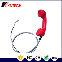2016 China PC/ABS with armoured cord outdoor telephone/school/public retro phone handset telephone handset cord KNTECH T7
