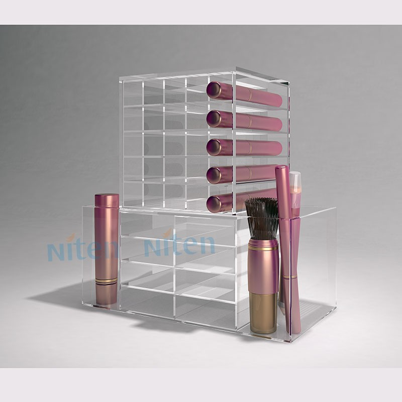 Large desktop lip gloss case acrylic display stand