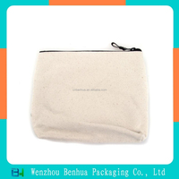 Zipper Canvas Pouch Printed Cotton Make up Bag