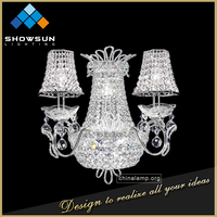 Zhongshan high end luxury art decoration crystal wall light