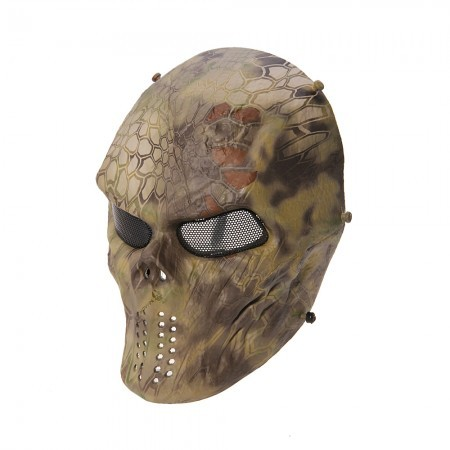 Tactical Skull Mask Airsoft Paintball Full Face Protection Safety CS War BB Game