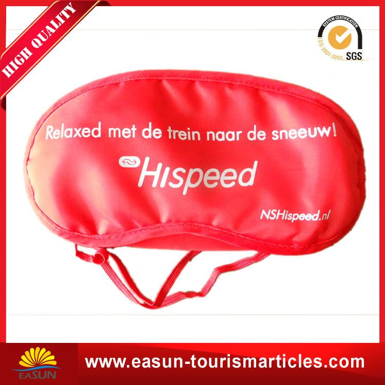 Cheap nice hotel eye mask travel eye shade sleep masks with printed logo